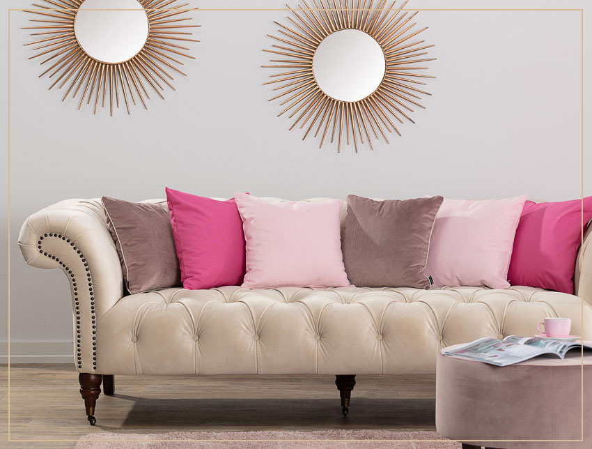 Obliečky na vankúše v ružovej farbe