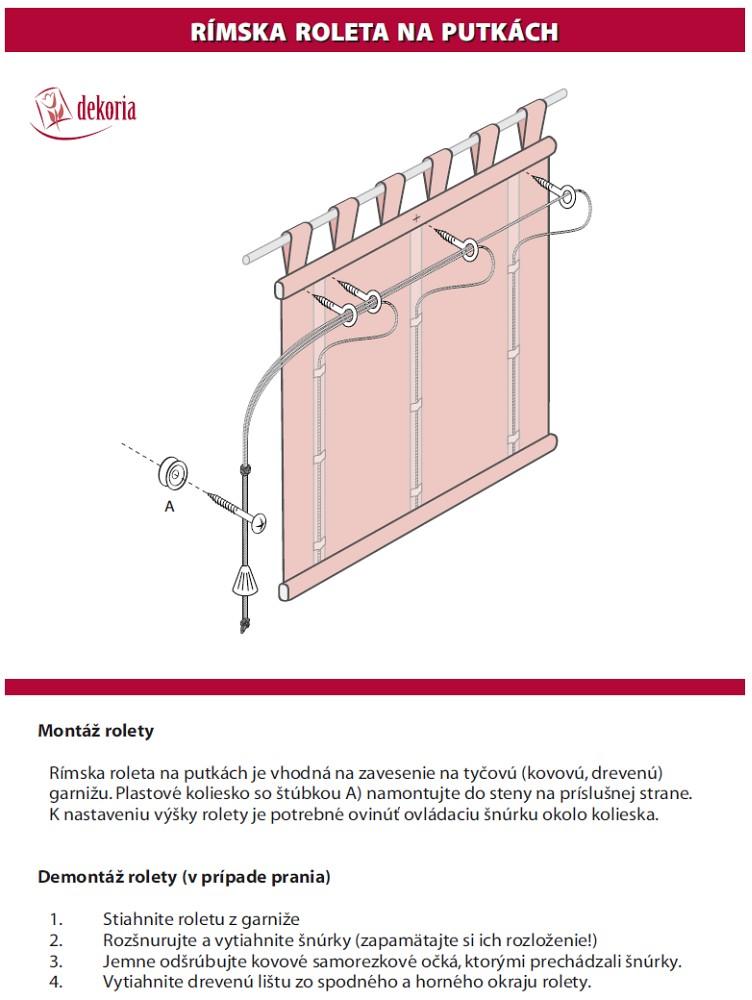 Montáž rolety Verona